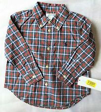 BNWT RALPH LAUREN POLO RED TARTAN CHECKED COTTON SHIRT AGED 18 MONTHS