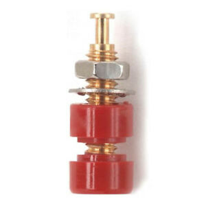 Pomona 3542-2 Pin Tip Jack, Threaded, Gold-Plated, Red, 10-Pack