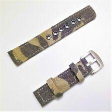 Correa De Lona Para Reloj - 24 mm - Camuflaje Militar - CMILICM24