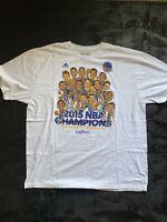 Golden State Warriors Adidas 2015 NBA Champions Caricature T-Shirt 2XL