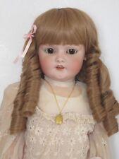 """perruque Jumeau® blonde boucles T38/39cm-poupée ancienne-doll Wig head sz15"""""""