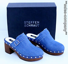 Designer Steffen Schraut Clogs Gr.37 Jeans Neu+OVP Ladenpreis 229€