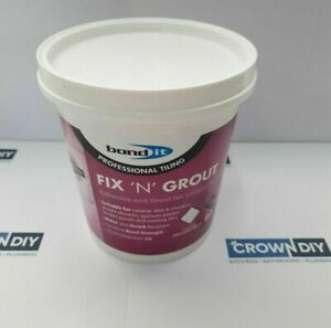 Waterproof Tile Adhesive Bond It Fix And Grout Ready Mixed Grout White 1.5Kg