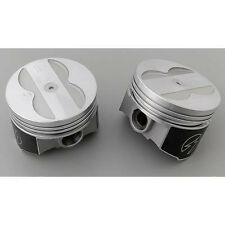 Speed Pro Forged Coated Skirt Flat Top 4VR Pistons Pontiac 400 Set 8 +.030""
