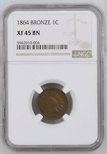 Small Cents Indian Head 1864  NGC XF-45  L