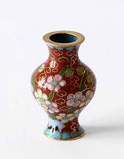 Vaso Cloisonnè Decoro Fiori Cinesi Oriental Ancient Antique Vase China H.5cm