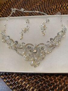 wedding jewelry set Set of Nymphaeus,Rhinestone Jewelry Set bridal jewelry set bridesmaid jewelry set. Crystal Wedding Necklace Set