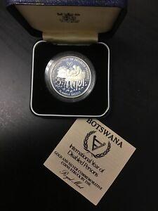 BOTSWANA 5 Pula 1981 KM Piedfort Ag.925 56.56g IYDP minted 1,000 RARE