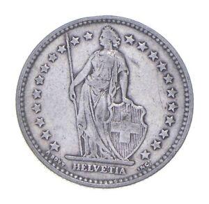 SILVER - WORLD Coin - 1914 Switzerland 2 Francs - World Silver Coin *132