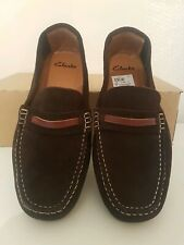 Clarks New Brown Moccasins Daboya Drive  suede uk 6d