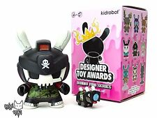 "Quiccs Srch Destroy Black Kidrobot DTA Designer Toy Awards 3"" Dunny Vinyl NEW"