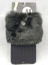 Boot Cuff Faux furr Solid Colored Fur Leg Warmer Boot Topper black (26)