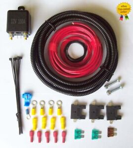 Split Charge Relay Kit System  3 Metre Meter 12 Volt with 100 amp Relay