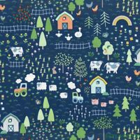 "FQ Dear Stella Farm Life  Cotton Fabric 18""Lx21""W-BTFQ"
