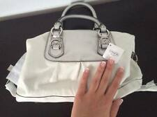 Authentic COACH Ashley Leather Satchel  White / Silver # M1149-F15445
