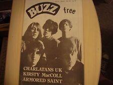 1990 BUZZ 'zine #61 KRISTY MacCOLL Charlatans UK ARMORED SAINT Nick Cave ROLLINS