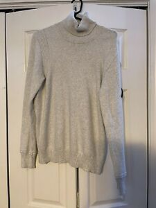 Stone Island Men's White Turtleneck Sweater MEDIUM