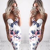 Women Summer Sleeveless Bandage Bodycon Evening Party Cocktail Short Mini Dress