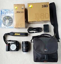 Nikon D80 camera body with Nikkor 18-200mm ED VR zoom lens