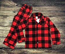 Gap Children's Pajama Set Unisex Plaid Fleece Toddler Pj Red Black Size 5