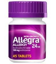 Allegra Allergy 24 HR Relief Non-Drowsy 180mg 45 tablets Expire 2022
