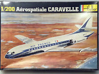 PRL) AéROSPATIALE CARAVELLE AIR FRANCE MAQUETTE MODELLINO MODEL 1:200 HELLER