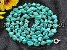 Z9190 12mm Natural Green Baroque Turquoise Necklace 50inch