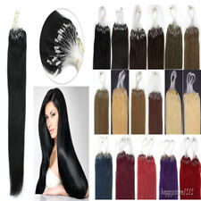 Easy Micro Loop Ring Beads I Tip Indian Remy Human Hair Extensions 16-26Inch100S