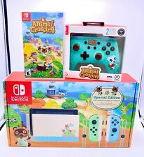Nintendo Switch HAC-001(-01) Animal Crossing: New Horizon Special Edition - 32GB - White with Pastel Green/Pastel Blue Joy-Con Controllers
