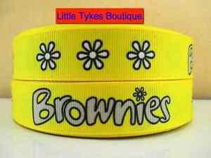 "Brownies Ribbon 7/8"" (22mm) Wide 1m is £1.49 NEW  UK SELLER FREE P&P"