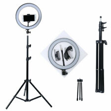"""NEW 10"""" Dimmable LED Ring Video Light Makeup Photography Lighting Kit + Tripod"""