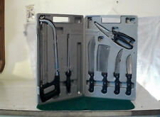Seven piece Camp-Usa Game processing Kit, in excellent condition, the hack-saw
