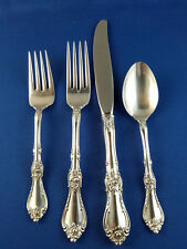 Wallace Royal Rose Sterling Silver 4 Pc Place Setting No Mono