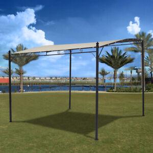 Metal Garden Outdoor Pergola 3x3 Waterproof Patio Canopy Awning Gazebo Sun Shade