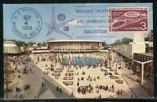 Etats Unis - Carte Maximum 1958 , Exposition Universelle de Bruxelles