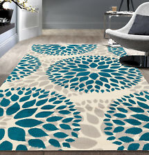 RUGSHOP MODERN FLORAL CIRCLES DESIGN AREA RUGS