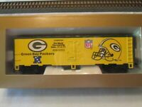 Mantua HO Scale Green Bay Packers NFL Super Bowl Box Car Excellent Condition!