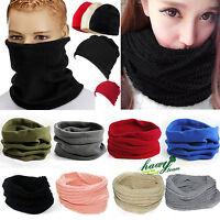 Mens Womens Winter Ski Thermal Face Mask Neck Warmer Snood Headwear Beanie Hat