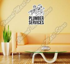 """Plumber Services Plumbing Worker Pipe Wall Sticker Room Interior Decor 20""""X25"""""""