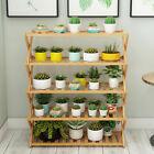 Bamboo Tall Plant Stand Flower Pot Holder Display Rack Shelf Home Garden Corner