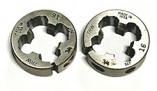3/4-16 Round Adjustable Split Dies Carbon Steel Usa Made 2 Pack