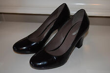 Geox black leather pumps 36 heels Career Cocktail VGUC 6 marie comfort