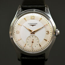 vintage longines 1268z 17j large swiss men watch stainless steel