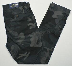 Polo Ralph Lauren #11141 NEW Men's Camo Stretch Slim Fit Pants MSRP $98.50