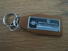 Morris Data Plate Leather Keychain Minor Oxford Mini Cooper 8 1000 Traveller