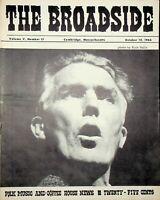 """Vtg """"The Broadside"""" Magazine Folk Music October 1966 Joe Heaney m366"""