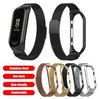 Fuer-Metallrahmen XIAOMI-MI-Band 3 4 L Milanese Wristband Bracelet Watch Strap