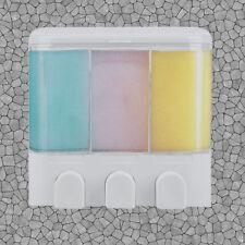 soap hair shampoo dispenser 3 chamber conditioner body wash shower bathroom bath