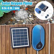 Solar Power Aquarium Garden Pond Oxygenator Water Pump Oxygen Aerator Air