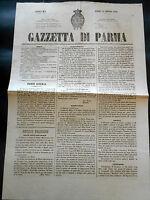 Risorgimento Storia Locale Emilia Romagna - Gazzetta di PARMA - n. 12 / 1858